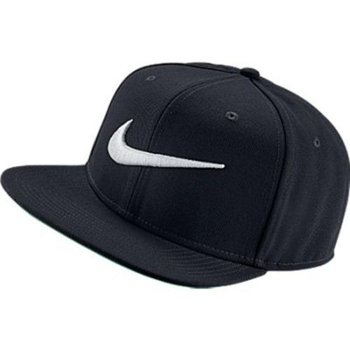 b9bf277841 Bone Aba Reta Nike Pro Swoosh Snap Back Preto 100% Original- - R ...