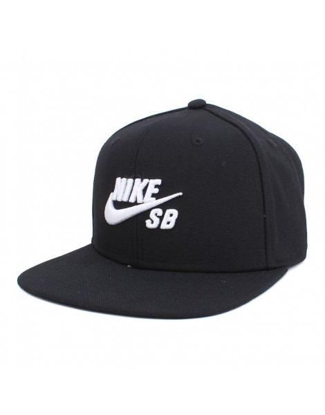 Boné Aba Reta Nike Sb Icon Preto Logo Branco Imp. Snapback - R ... 68c35c227a6