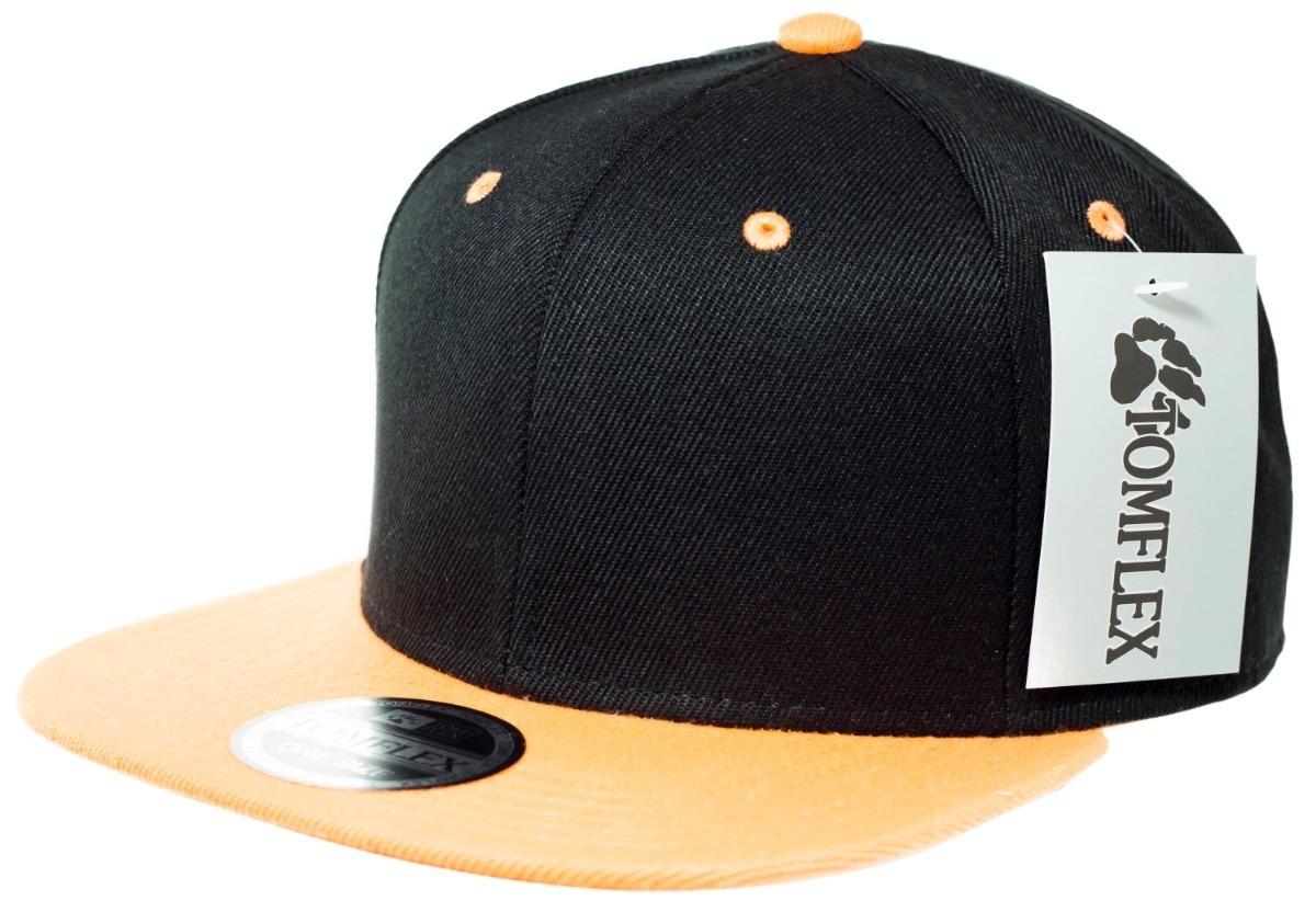 boné aba reta preto   laranja snapback sem estampa. Carregando zoom. 3b1bbe43a55