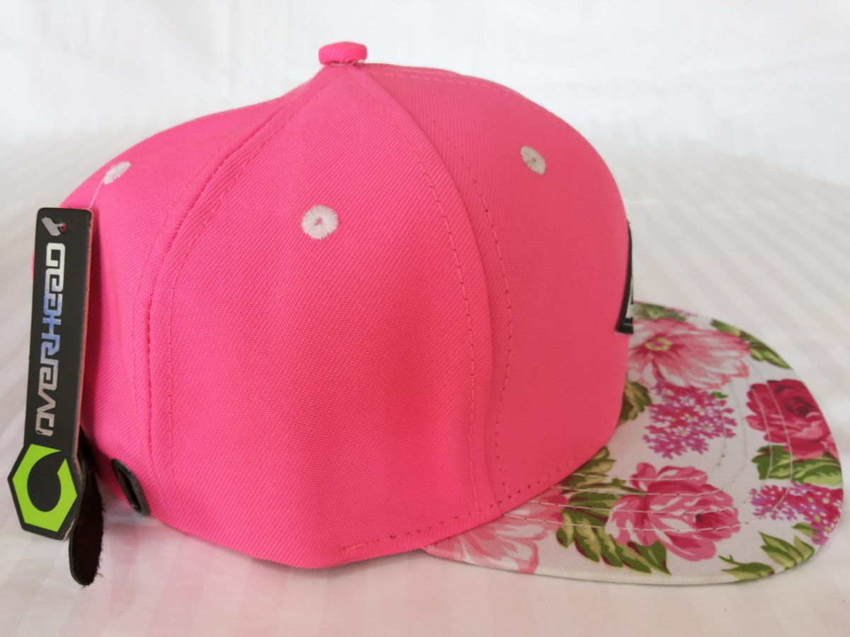 bone aba reta rosa overhead aba floral strapback. Carregando zoom. 2a4a0d7498e
