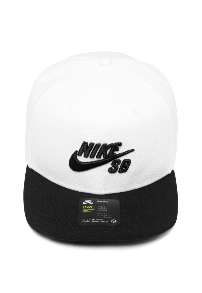 c981ae6ab7 Boné Aba Reta Sb Icon Nike Branco/preto Original