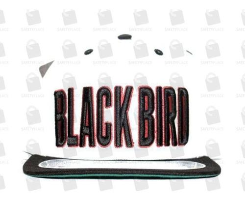 boné aba reta snapback ajustável original black bird