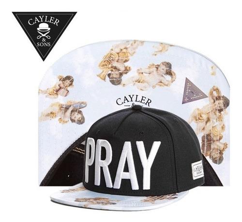boné aba reta snapback cayler & sons - pray + frete grátis