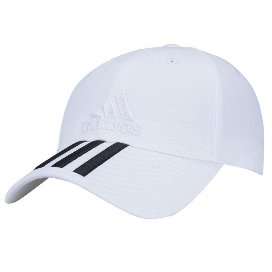 boné adidas 6 painéis 3s cap cotton strapback branco. Carregando zoom. 6444fc1fc35
