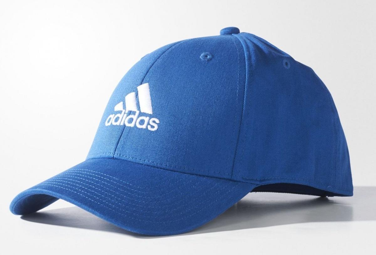 Boné adidas Aba Curva Basic Logo Masculino - Azul - Original - R  60 ... 3cd13dc6ca6