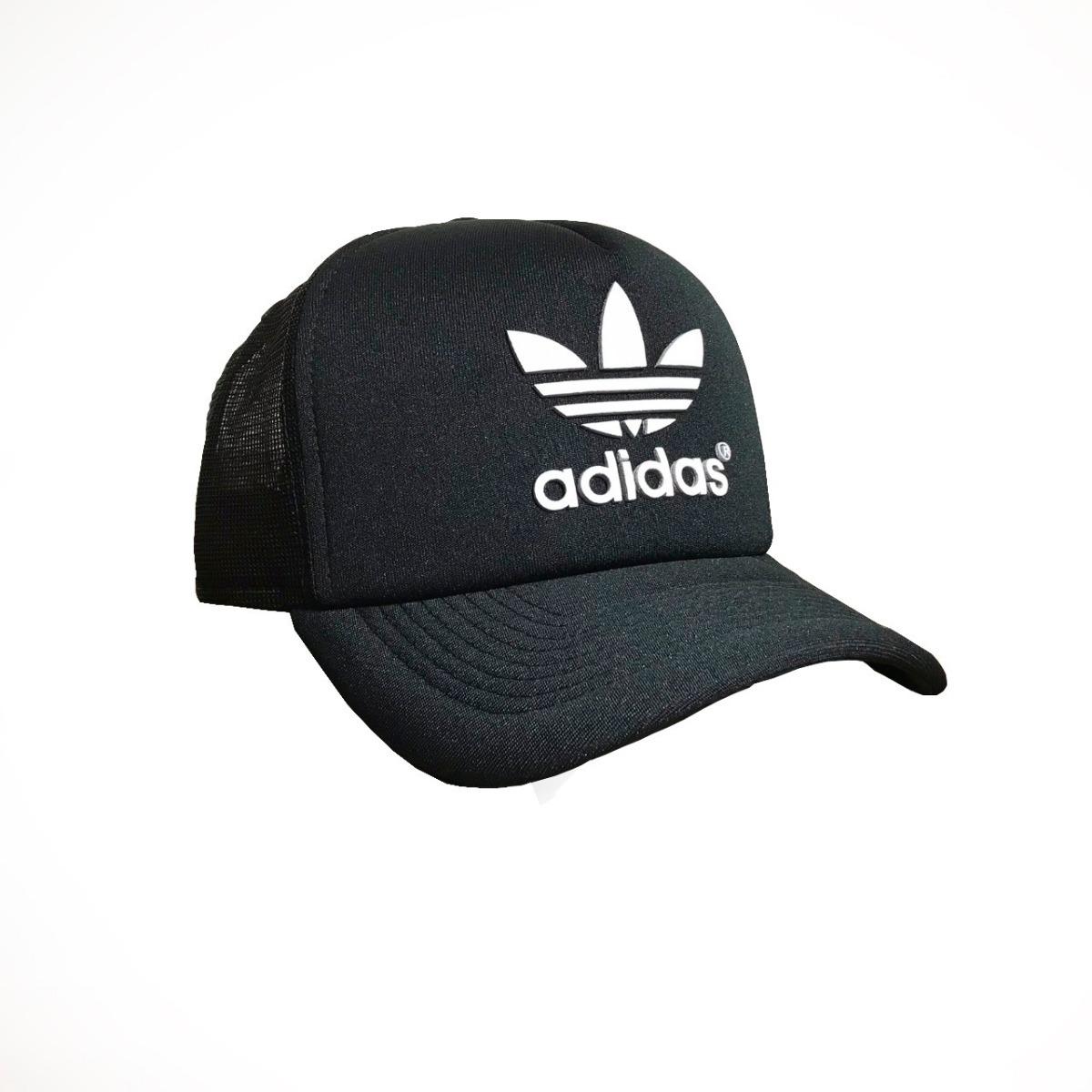 boné adidas brand black new preto aba curva trucker telinha. Carregando  zoom. a0f933e391a