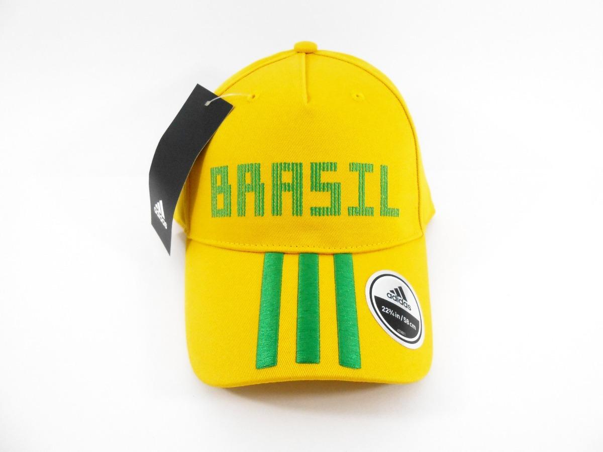 825e8fa146d9d Boné adidas Brasil Aba Curva 3 Stripes - R$ 120,89 em Mercado Livre