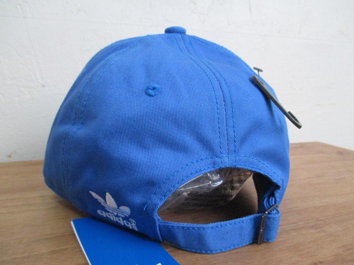 54bb0914fe boné adidas dad hat trefoil aba curva azul original. Carregando zoom.