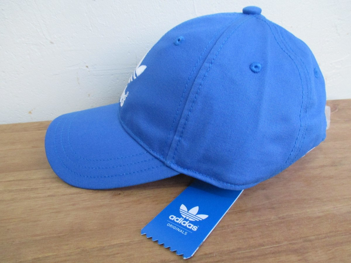 boné adidas dad hat trefoil aba curva azul original. Carregando zoom. bb6e101653f