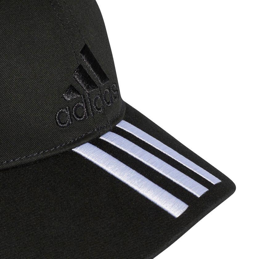 Boné adidas Seis Painéis Classic 3-stripes Preto- S98156 - R  105 2b6fc27ad7a