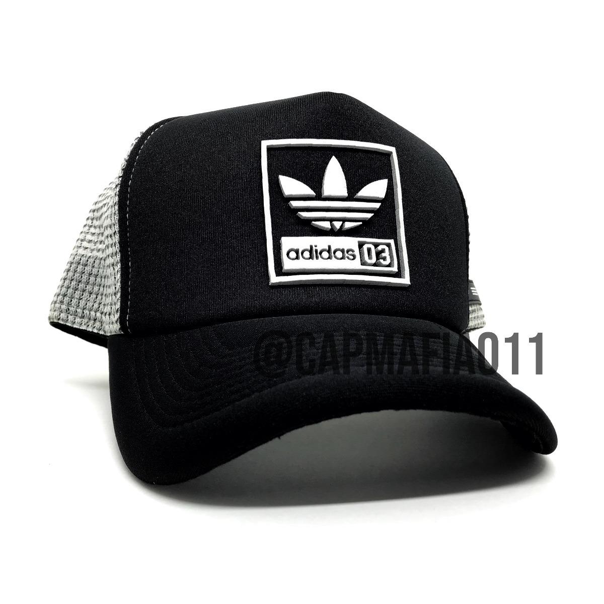 boné adidas trefoil square black grey aba curva trucker tela. Carregando  zoom. 11e47cc4db620