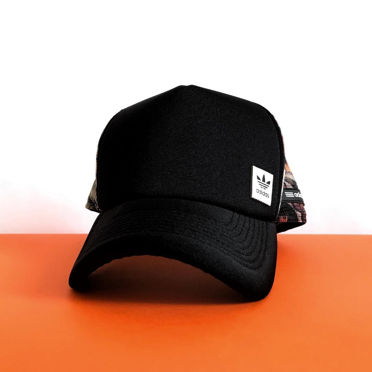 2f63fe4b1554e boné adidas tropical stripes black aba curva trucker telinha. Carregando  zoom.