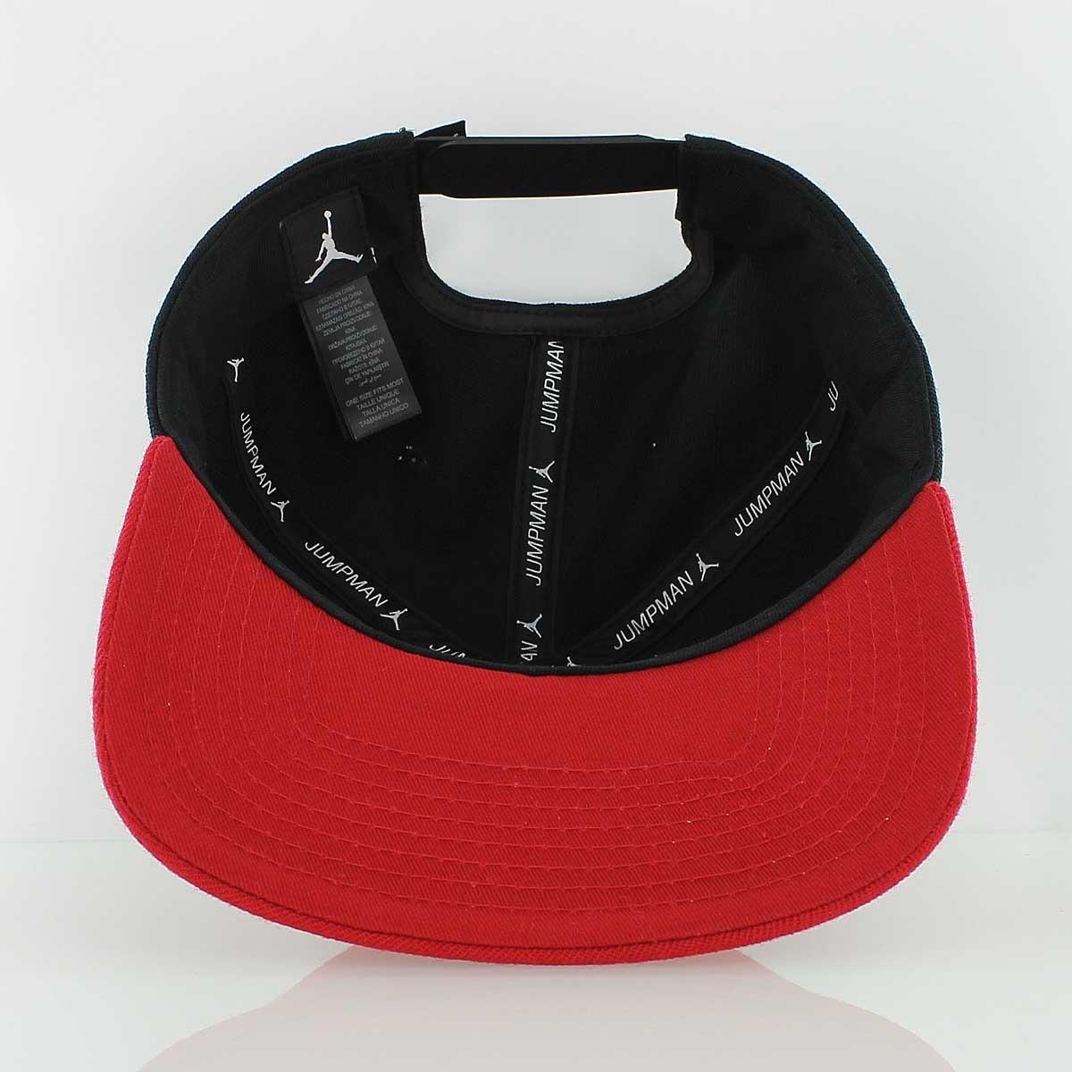 33c31b4684b87 ... order bone air jordan jumpman snapback hat nike original red black.  carregando zoom. 728d9