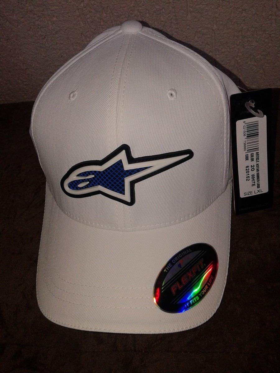 Boné Alpinestars Rubber Logo Flexfit (branco) - Tamanho L xl - R ... 6487179a1e6