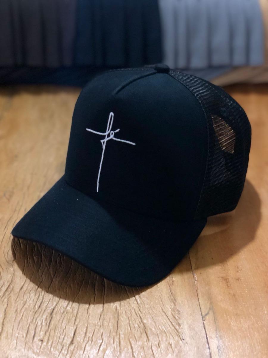 boné american cap faith black fé preto original trucker tela. Carregando  zoom. 4fe8888f8de