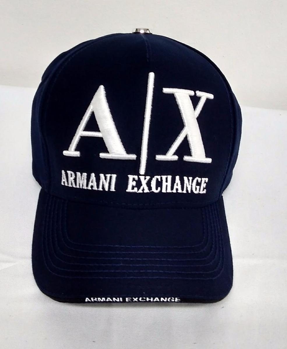 boné armani exchange - ax marinho bordado em branco. Carregando zoom. 665a8adc7b13a