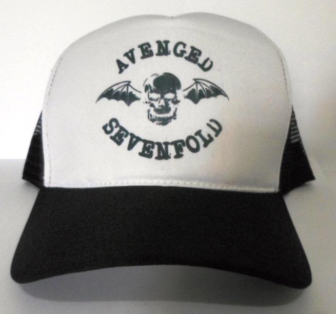 f2ad25e176932 Boné Avenged Sevenfold Trucker Tela Oldschool Redinha Rock - R  30 ...