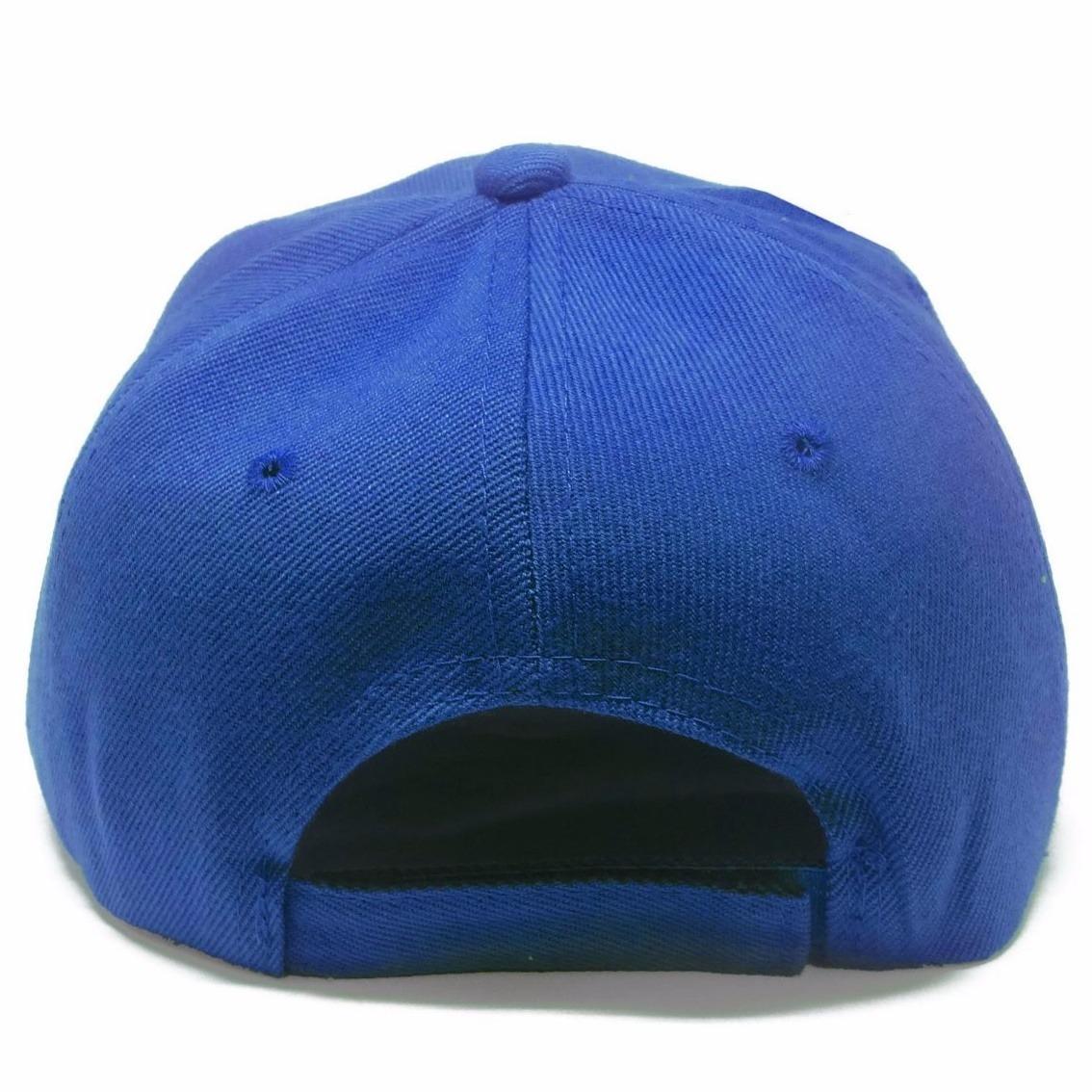 boné azul liso brim aba reta 5 gomos sem estampa. Carregando zoom. 3b92f2147b9