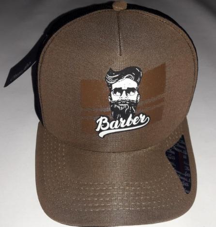 Boné Barber Shop Aba Curva Classic Hats Marron E Preto - R  49 5c36978a3c4