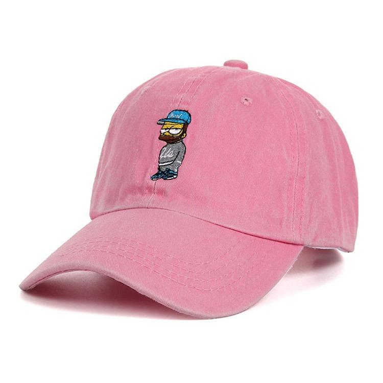 c34042a60d179 Boné Bart Simpsons Aba Curva Dad Hat Rosa - Pronta Entrega - R  69 ...