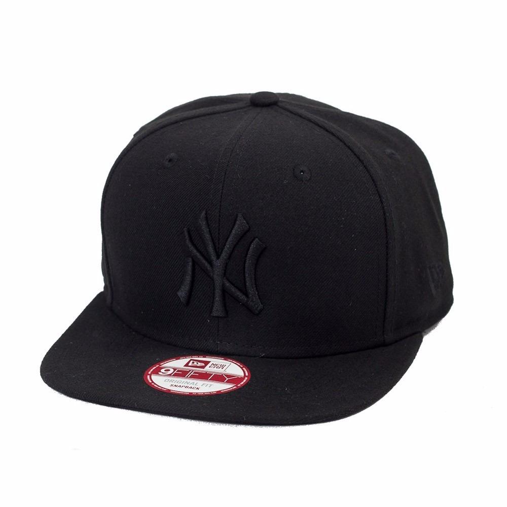 d27fea3894b26 boné baseball new york yankees preto aba reta. Carregando zoom.