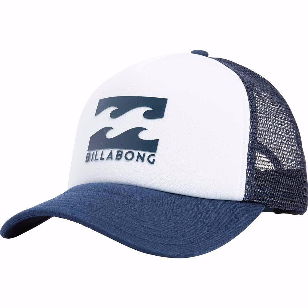 c2db1436f31 Boné Billabong Podium Trucker Branco azul Original Surf - R  99