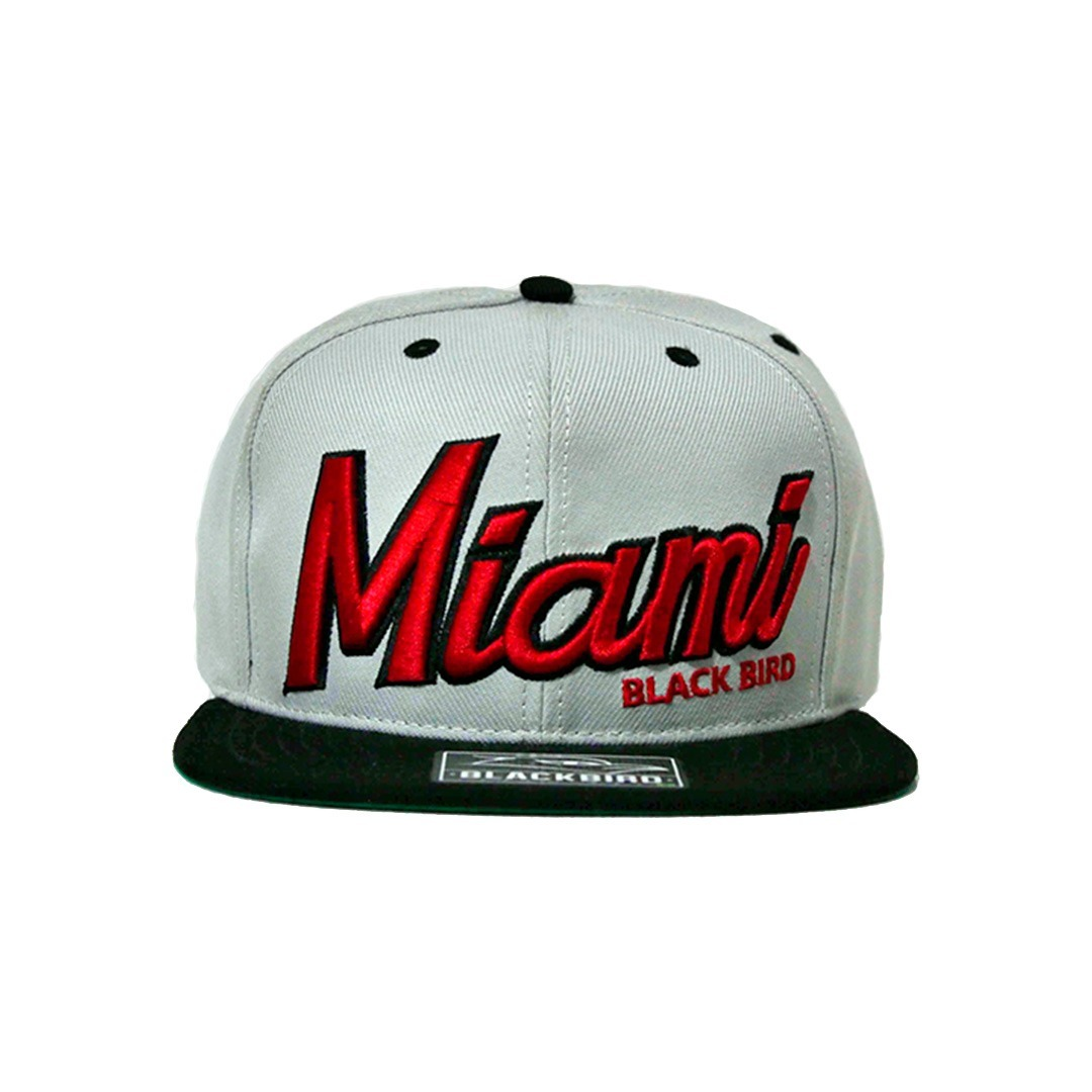 Boné Black Bird Miami Aba Reta Snapback  782a209fedb