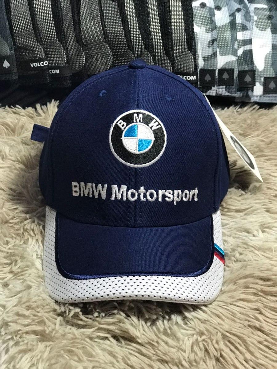 b7bc66c9e4774 Boné Bmw Motorsport Fitao Azul Marinho Promoção - R  30