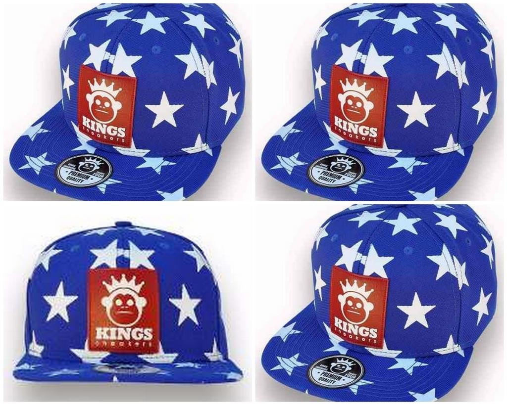 b50a278f63460 Boné Bone Estrelas Kings Aba Reta Snapback Sneakers Star - R  42