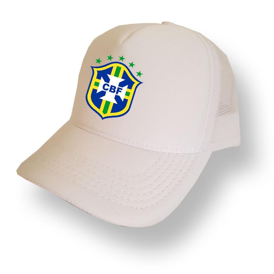 8aadcf180e6ce boné branco brasil seleção trucker aba curva bone tela. Carregando zoom.