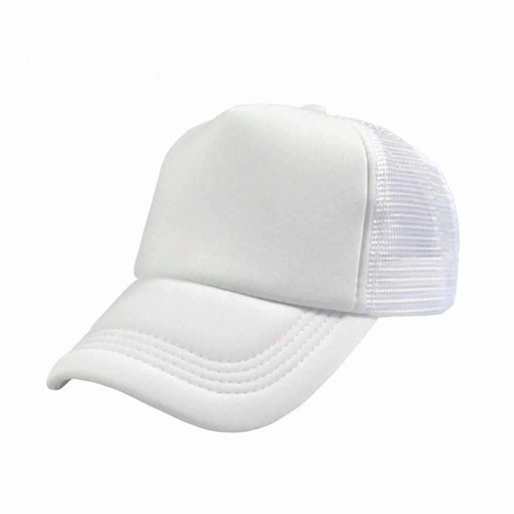 boné branco liso redinha tela aba curva telinha trucker moda. Carregando  zoom. 144cbf57b7dea