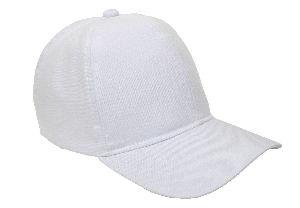 boné branco liso unisex aba curva - com regulagem de tamanho. Carregando  zoom. 72e51a5429c
