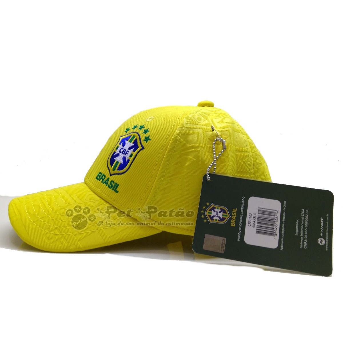 bone brasil aba curva cbf oficial seleção copa 0102 amarelo. Carregando  zoom. c013d99d789