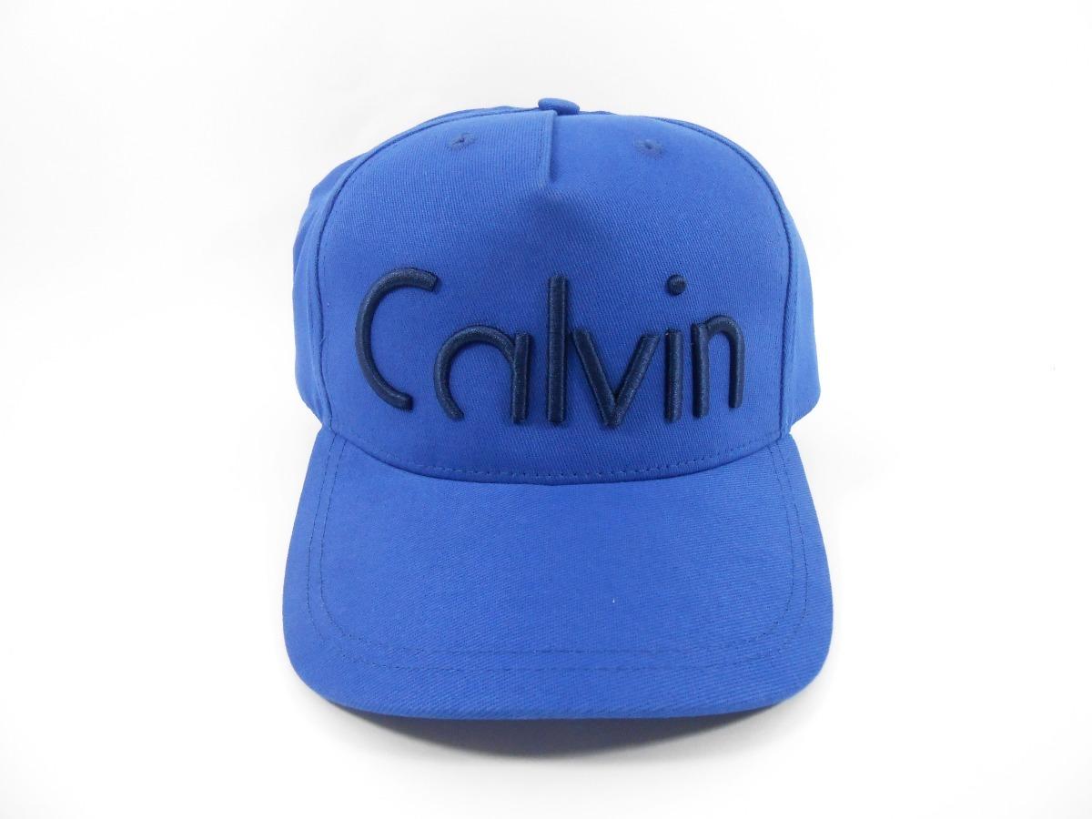 Boné Calvin Klein Jeans Logo Azul Preto - R  97,89 em Mercado Livre 7aca01fa02