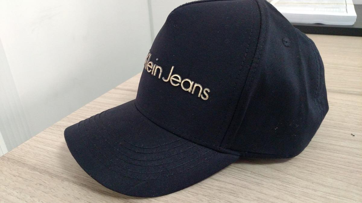Boné Calvin Klein Jeans Preto - Original Black - R  79,99 em Mercado ... c29f31cdcf