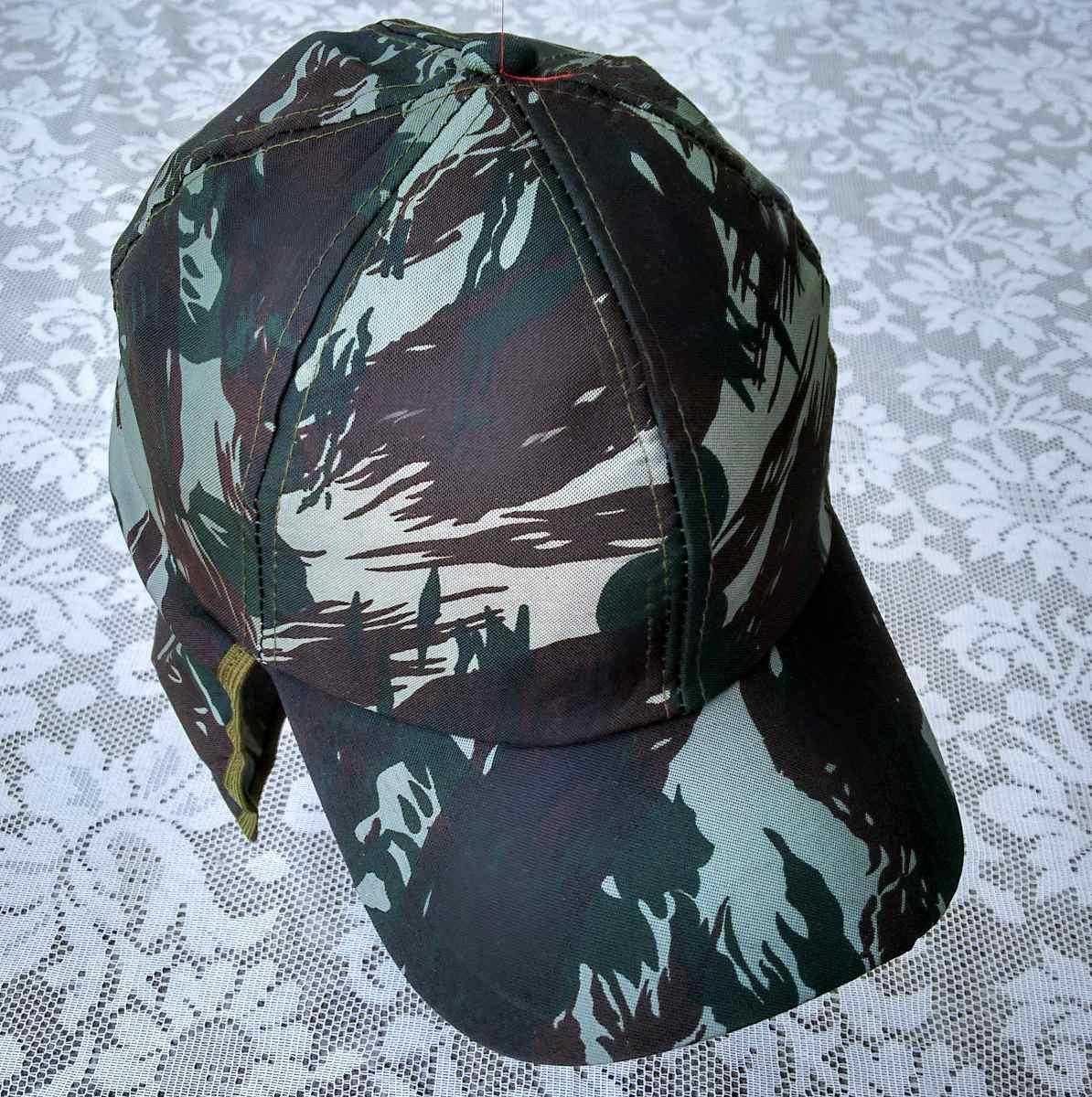 boné camuflado verde exército com protetor de nuca pescoço. Carregando zoom. 61ceaa15284