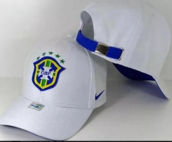 Boné Cbf Brasil Aba Curva Com Ajuste Azul f2072455be7