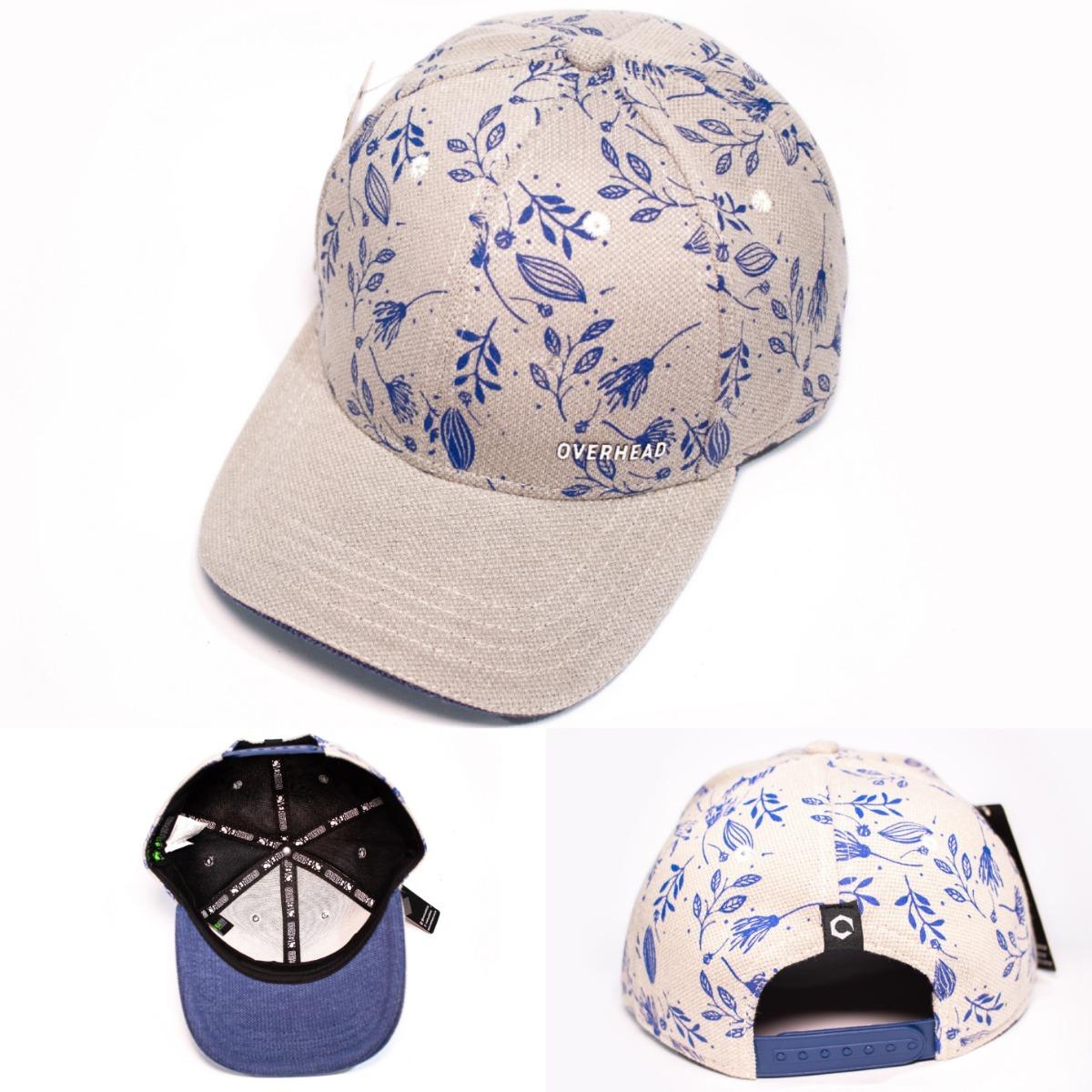 97cbc7584c boné chapeu aba curva estampado floral fores folha azul. Carregando zoom.