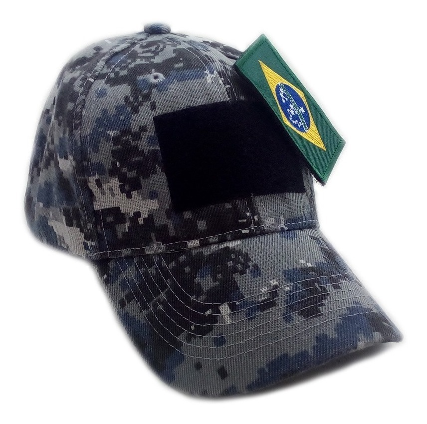 Boné Chapéu Camuflado Bandeira Brasil Airsoft Velcro Patch