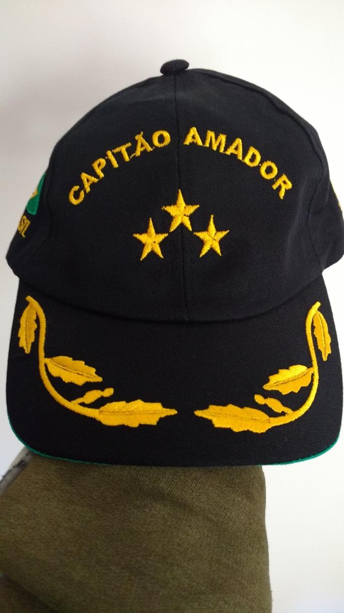 Boné   Chapéu Capitão Amador Oficial   Marinha Do Brasil - R  39 9c7c5668f67