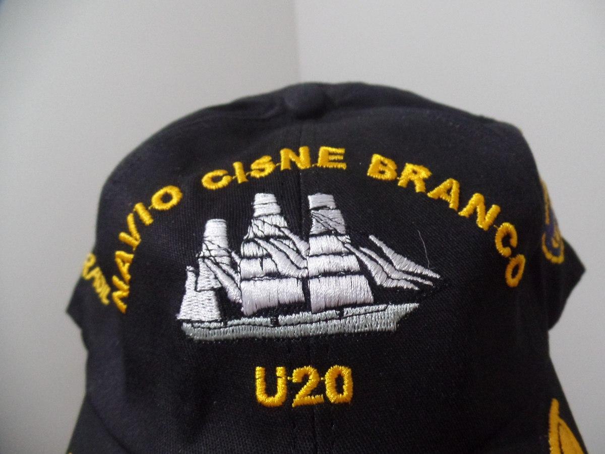 boné chapeu marinha do brasil u20 cisne branco para oficial. Carregando  zoom. a9c24c2ee72