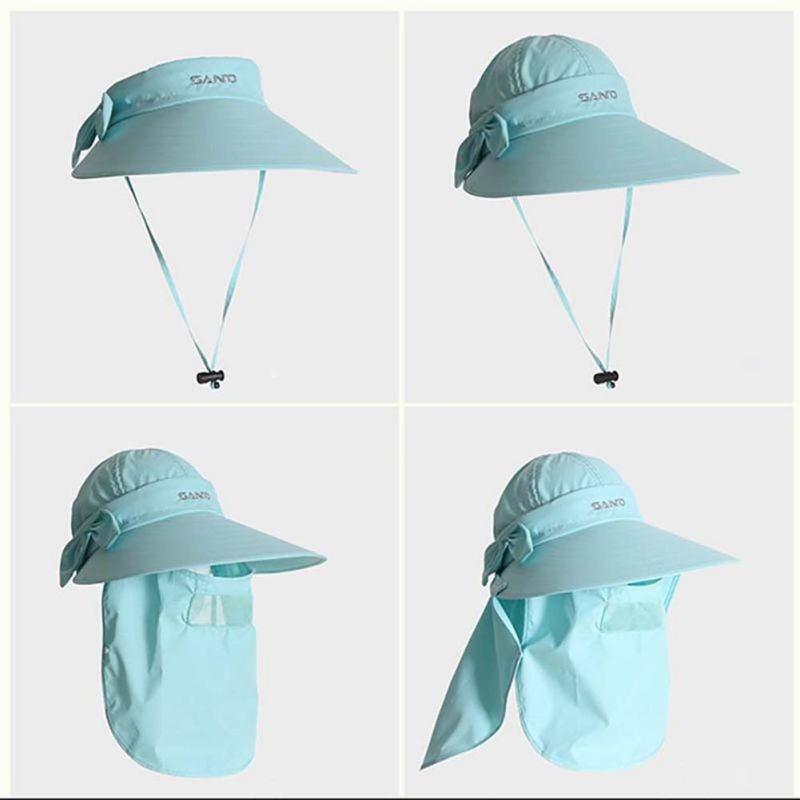 boné chapeu protetor solar cabeça nuca rosto orelha feminino. Carregando  zoom. 3841eb8024c