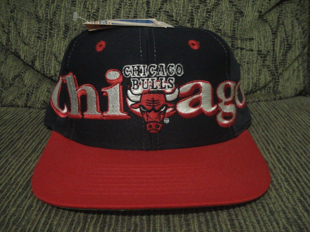 boné chicago bulls blockhead logo 7 anos 90. Carregando zoom. 75d5d7defb1