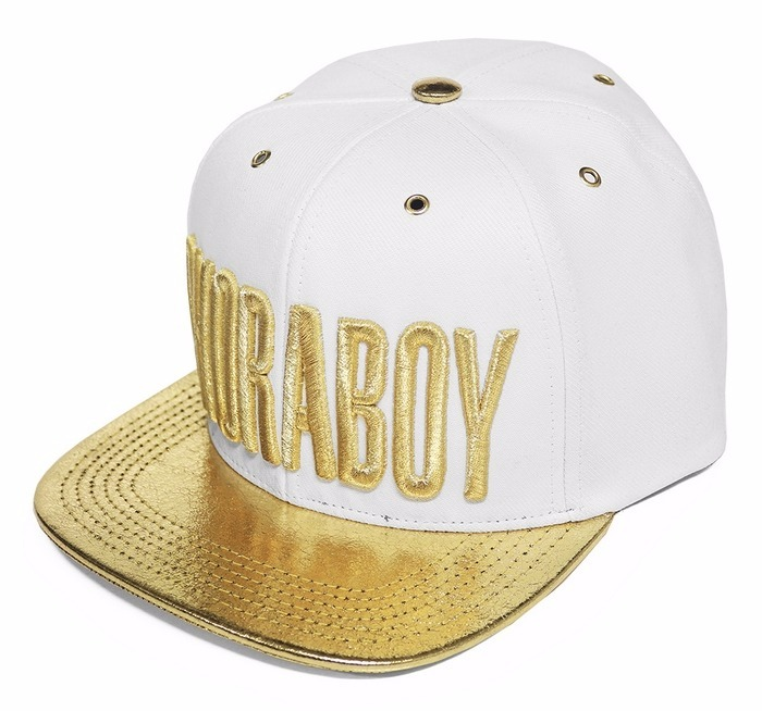 Boné Choraboy Aba Reta Branco E Dourado - Rfb020 - R  99 8f73b811984