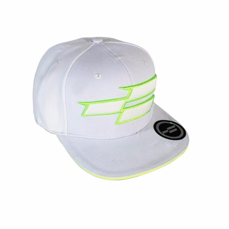 3c2952a505f79 boné conduta branco verde fluorescente neon aba reta skate. Carregando zoom.