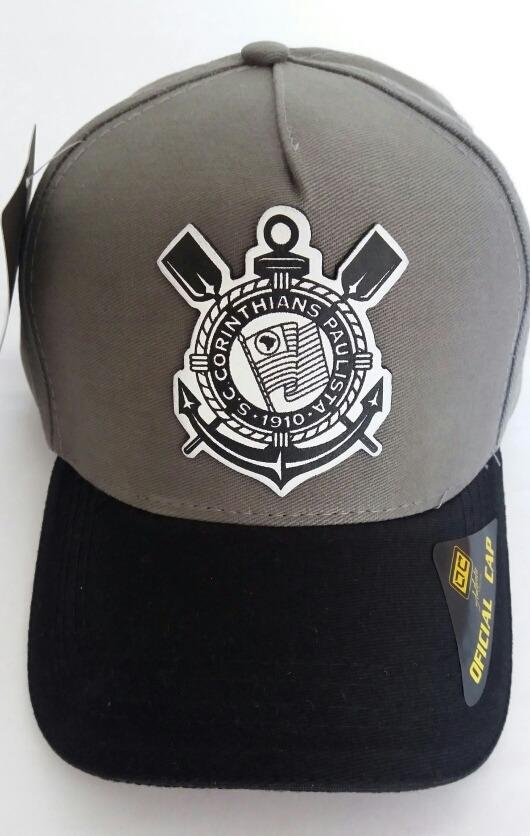 Boné Corinthians Aba Curva Original Cap Mais Brinde - R  33 76634217e14b1