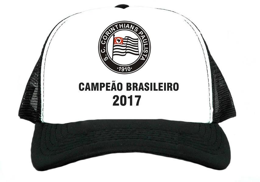 boné corinthians campeão brasileiro 2017 promoção top. Carregando zoom. 9d34f25df97cb
