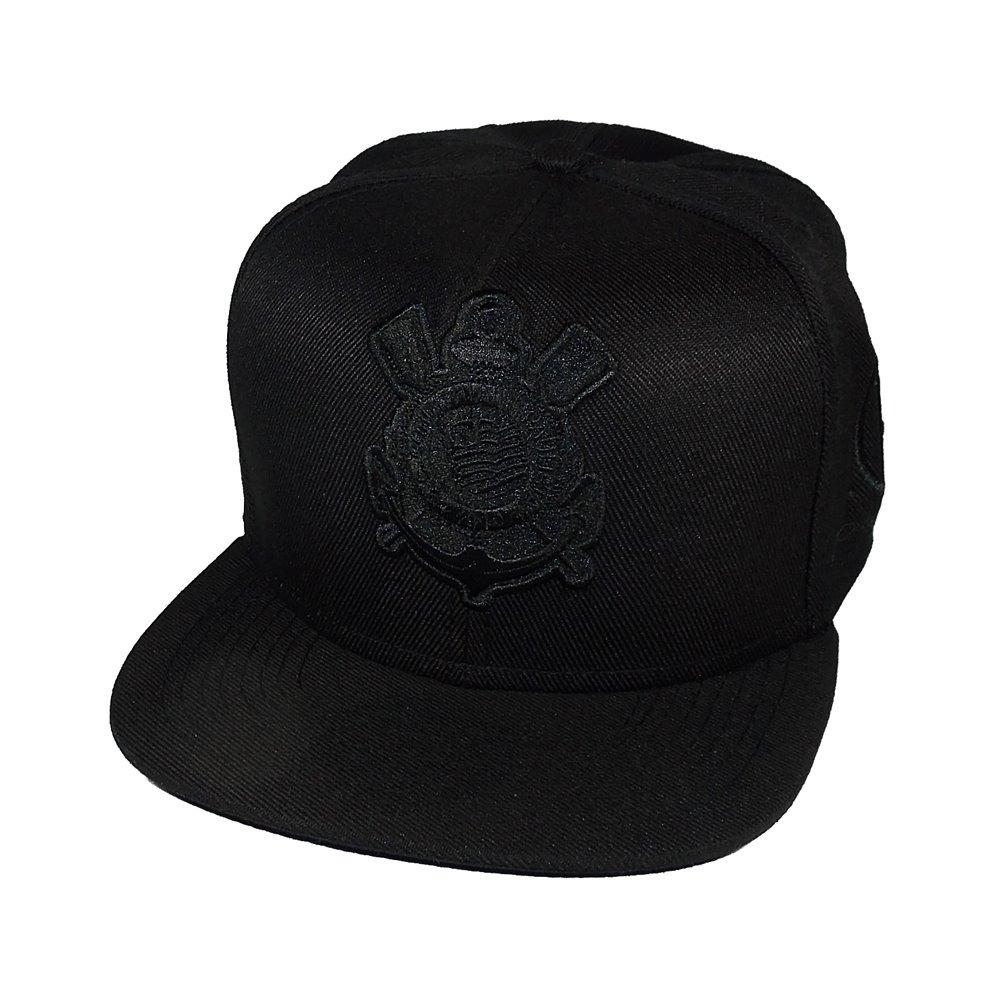 Boné Corinthians Timão Futebol Aba Reta Snapback - R  34 8dc1ad471aa
