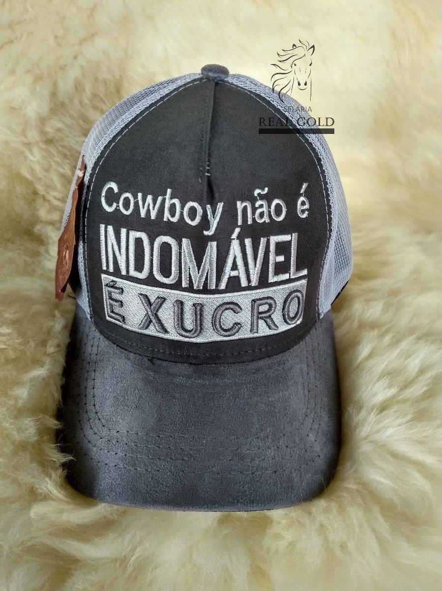 bcc78b37ebe2a boné country frases cowboy não é indomável é xucro. Carregando zoom.