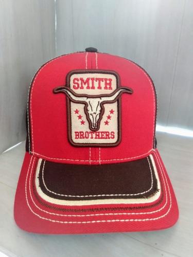 boné country smith brothers unissex com logo longhorn tela